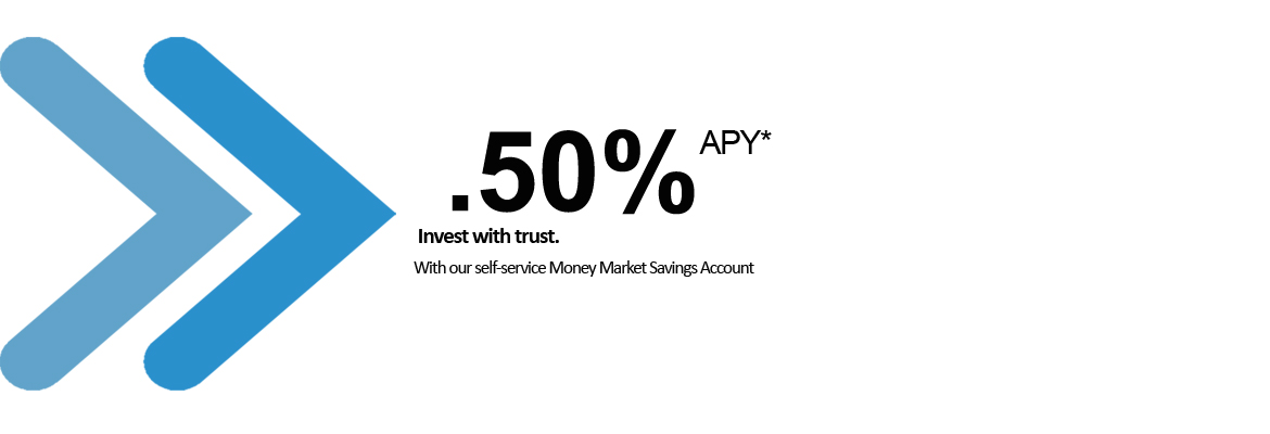.50% annual percentage yield (APY). Invest with trust with our self-service Money Market Savings account.